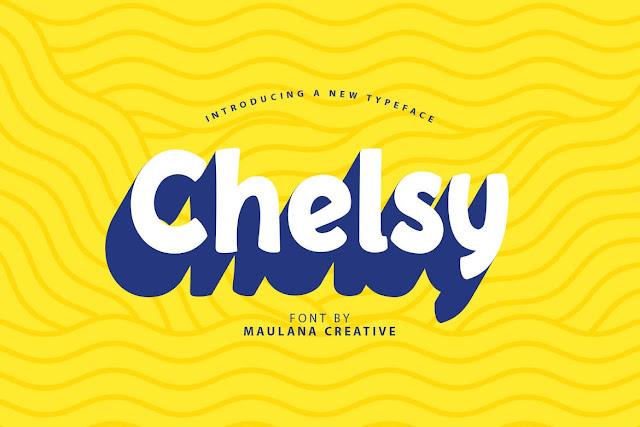Chelsy - Cute Font Sans Download Font Free