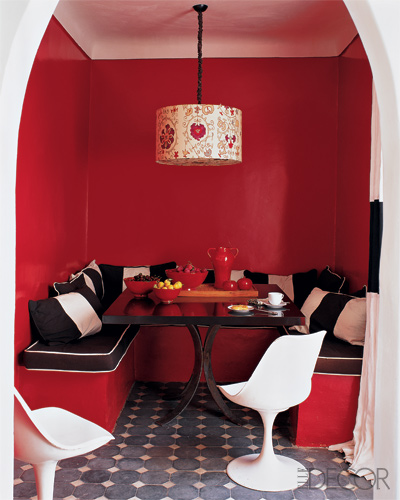 Red Color Interior Design Ideas: Beautiful Abodes: Using Red