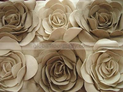 felt rose shag rug