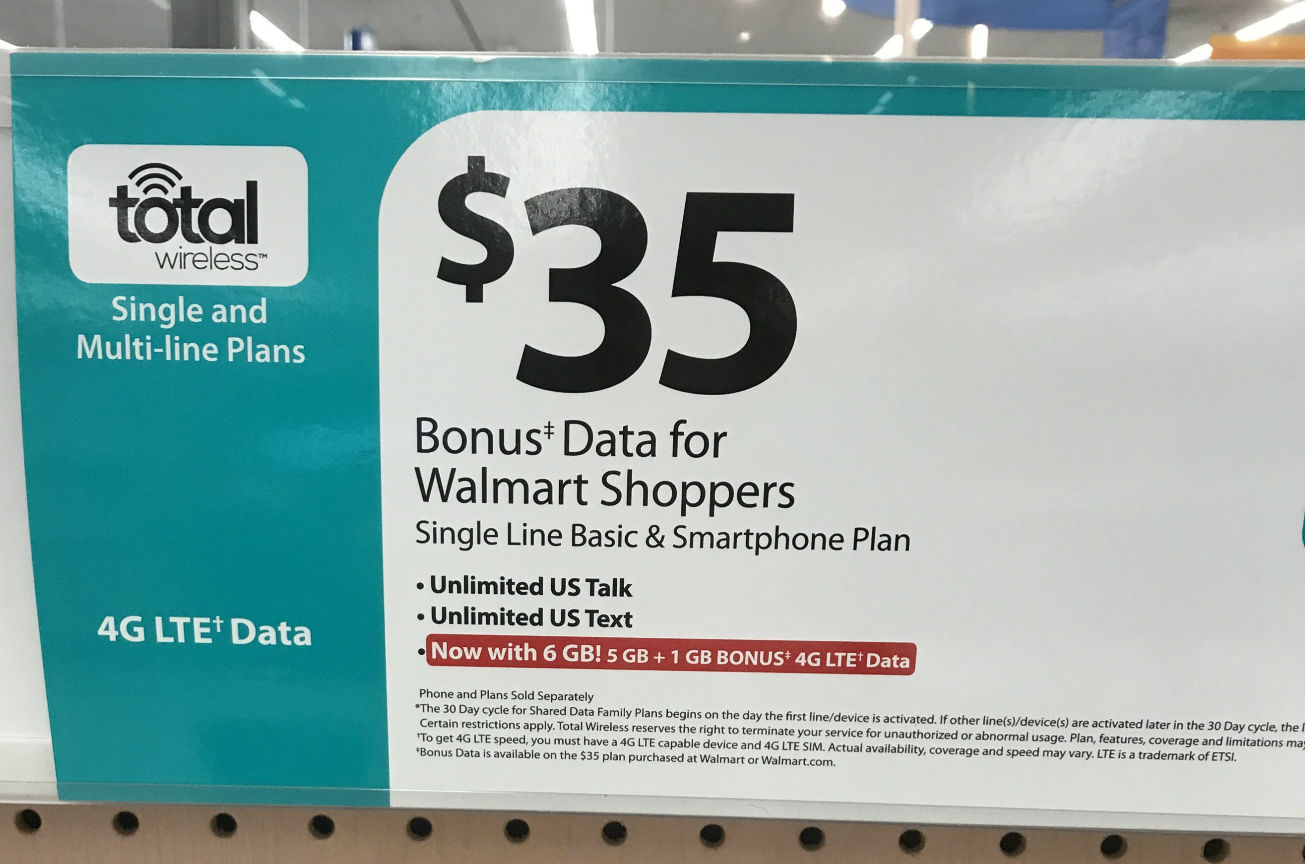 Total Wireless Offering Bonus Data to Some Walmart Customers