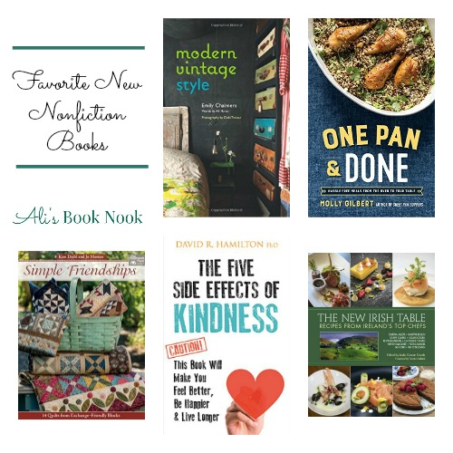 New Nonfiction cookbooks, decorating, quilting, kindness