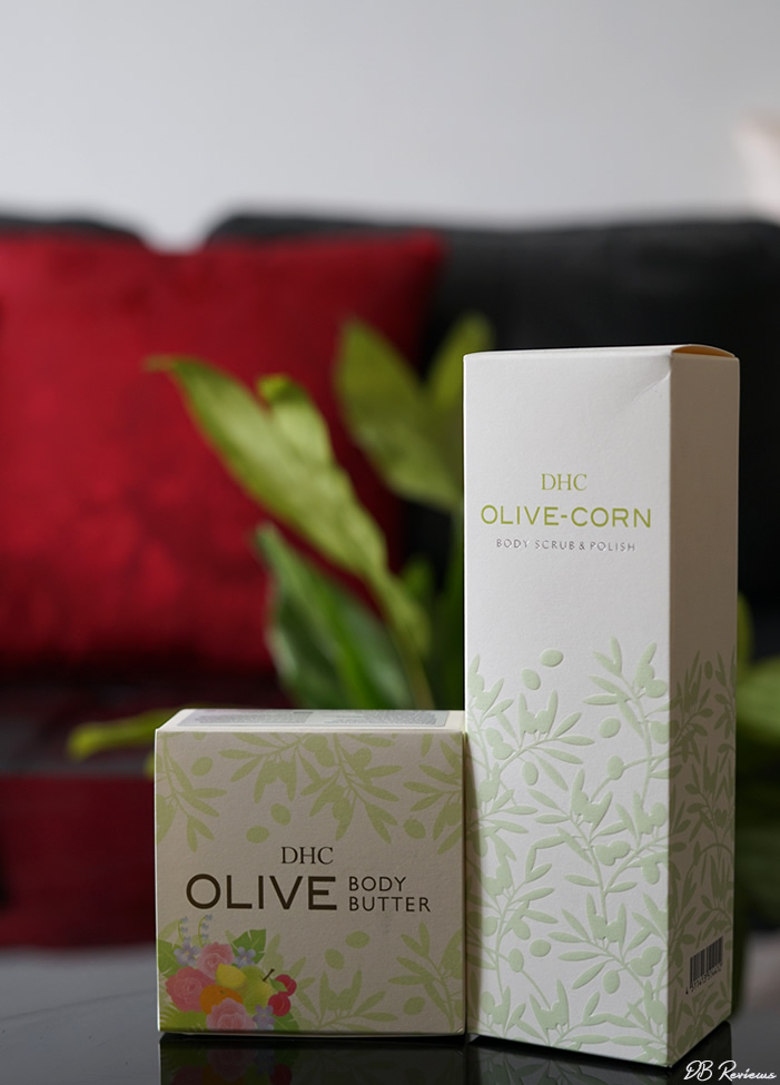 DHC Skincare Olive-Corn Body Scrub & Polish and Olive Body Butter