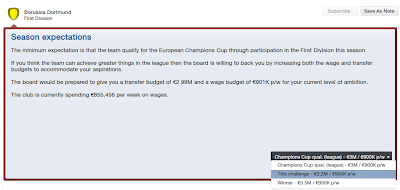 Minimum board expectations in FM13