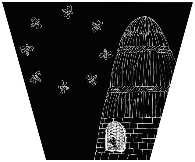 ocho abejas, colmena