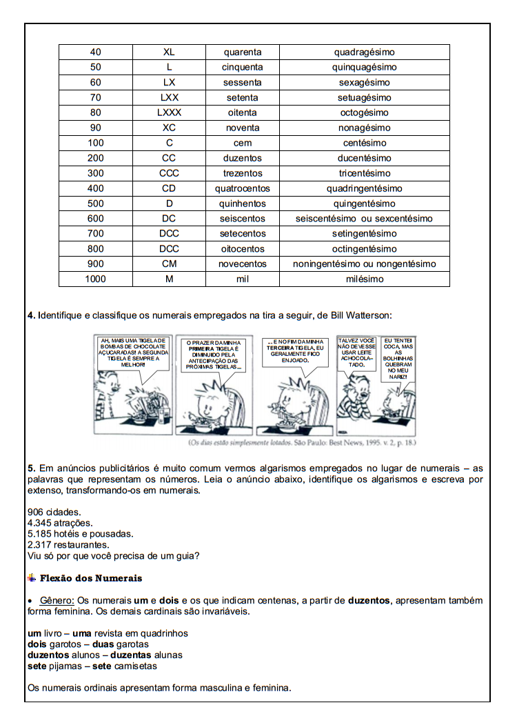 Educadora Lina 10 Atividades Portugues 6 Ano Lingua Portuguesa