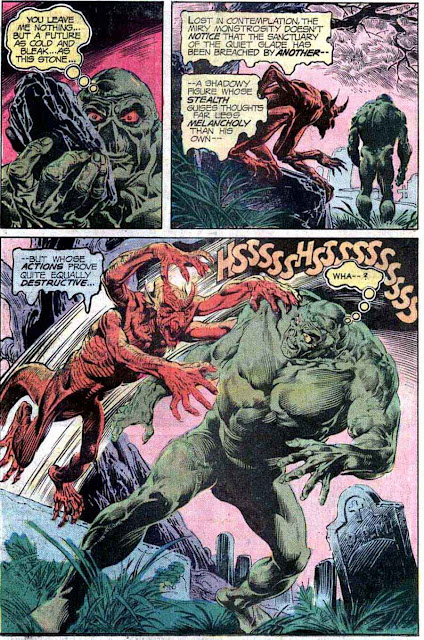Swamp Thing v1 #18 1970s bronze age dc comic book page art by Nestor Redondo