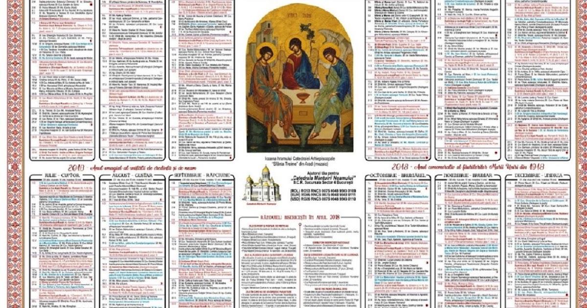 Calendar Crestin Ortodox Duminica An