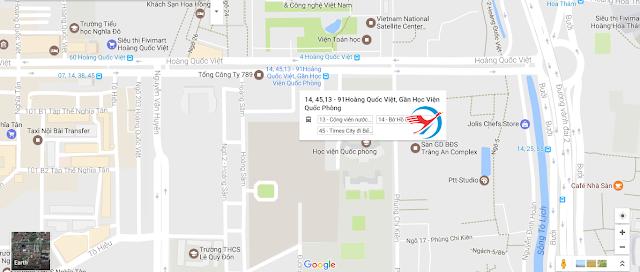 Bản đồ đường đi ngắn nhất đến với khóa đào tạo đồ họa tại Hocvienit.edu.vn
