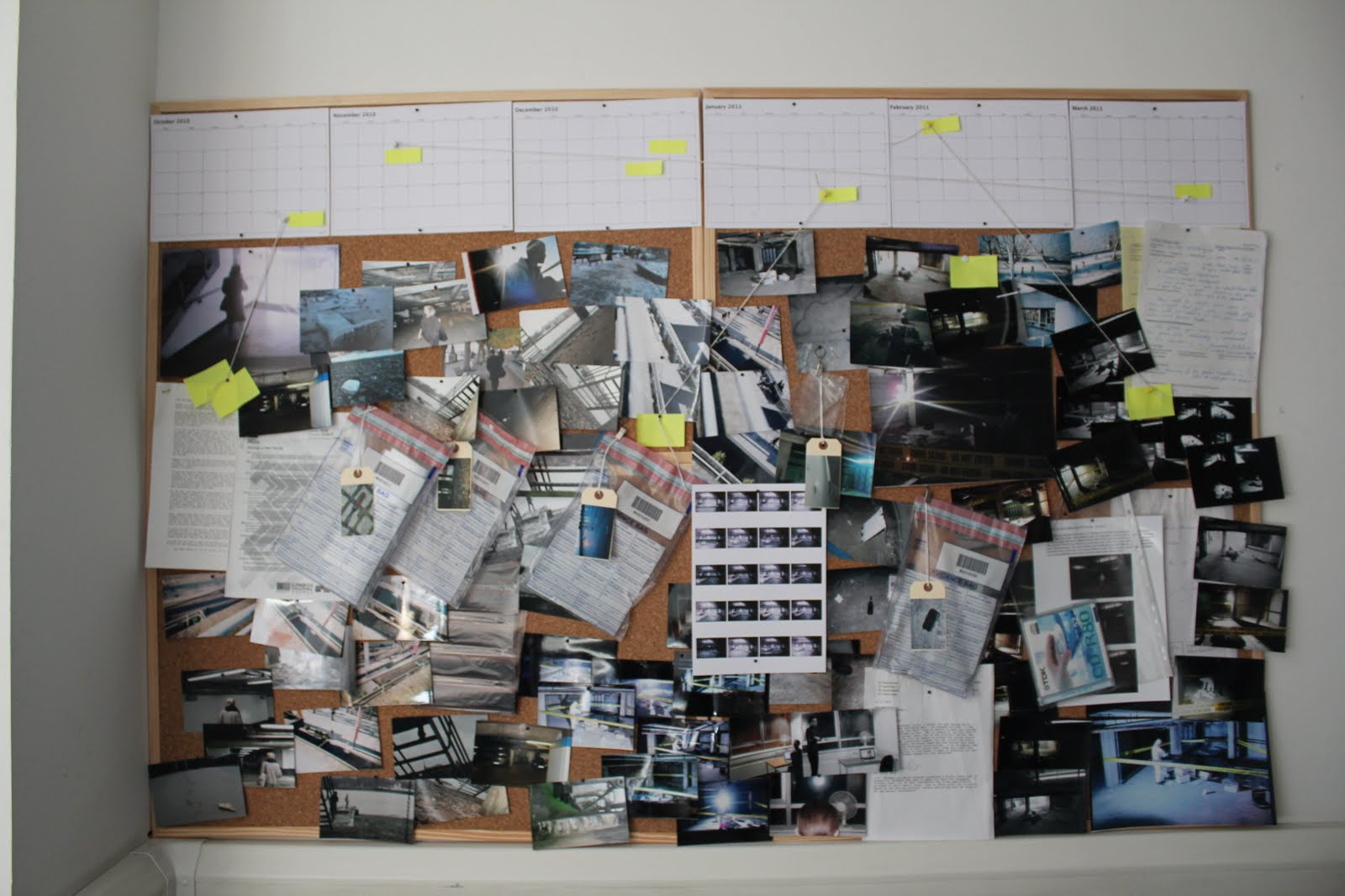 Surveillance >> Surveillance: Mosaic Investigation Wall