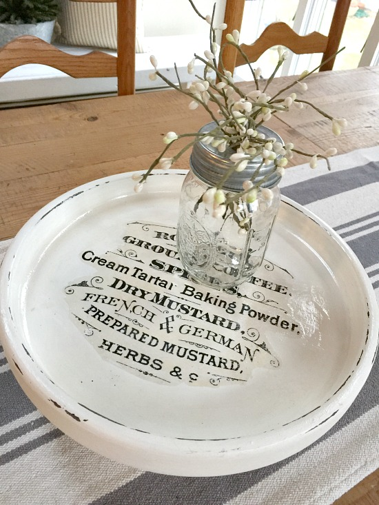 A Farmhouse Lazy Susan with a graphics fairy image