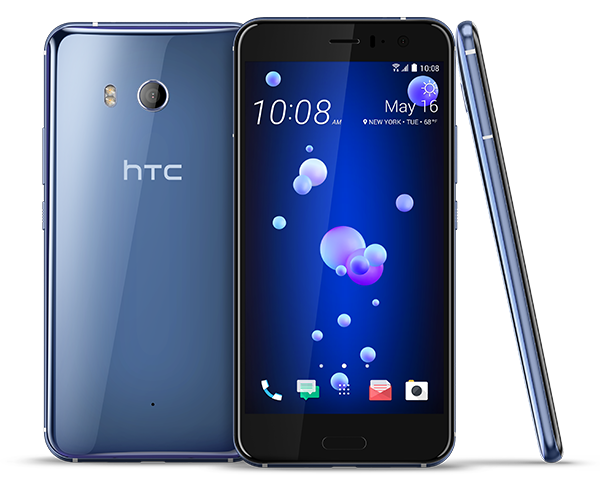 htc u11 silver color smartphone