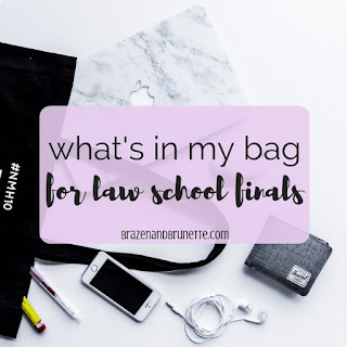 what to bring to your finals. day before finals. last day study schedule. studying for finals in law school. law school finals. law school studying. law student studying. law school exams. law school tests. law school blog. law student blogger | brazenandbrunette.com