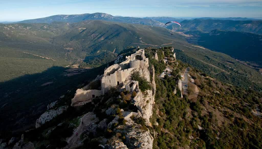 Panorámica del castillo de Peyrepertuse