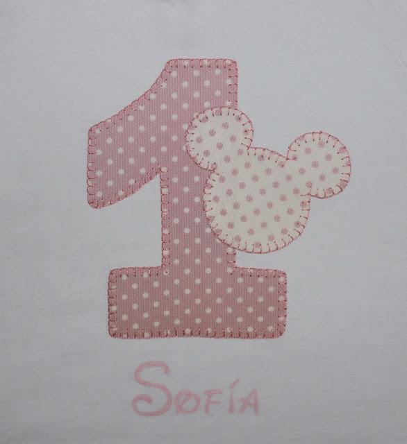 camiseta cumpleaños 1 año mickey