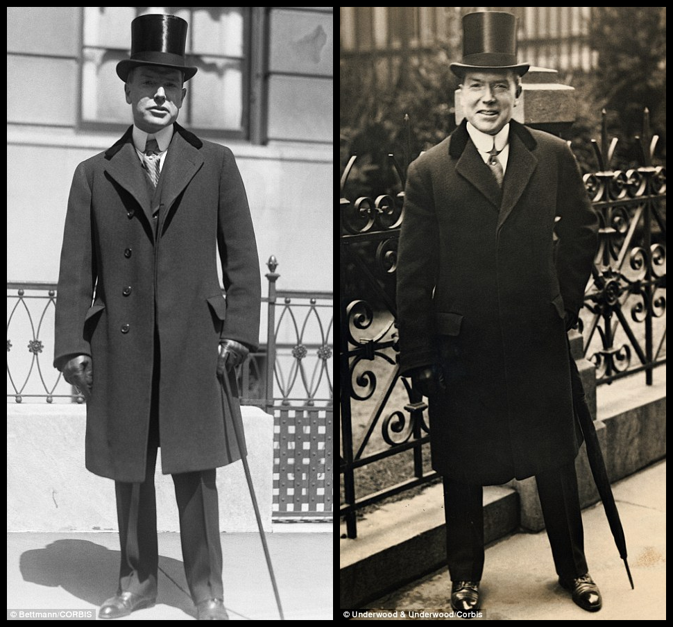 predictable history unpredictable past in your easter bonnet dressing like a billionaire oil magnate john d rockefeller jr steps out in his sunday best before going to easter service at church in 1922 left and