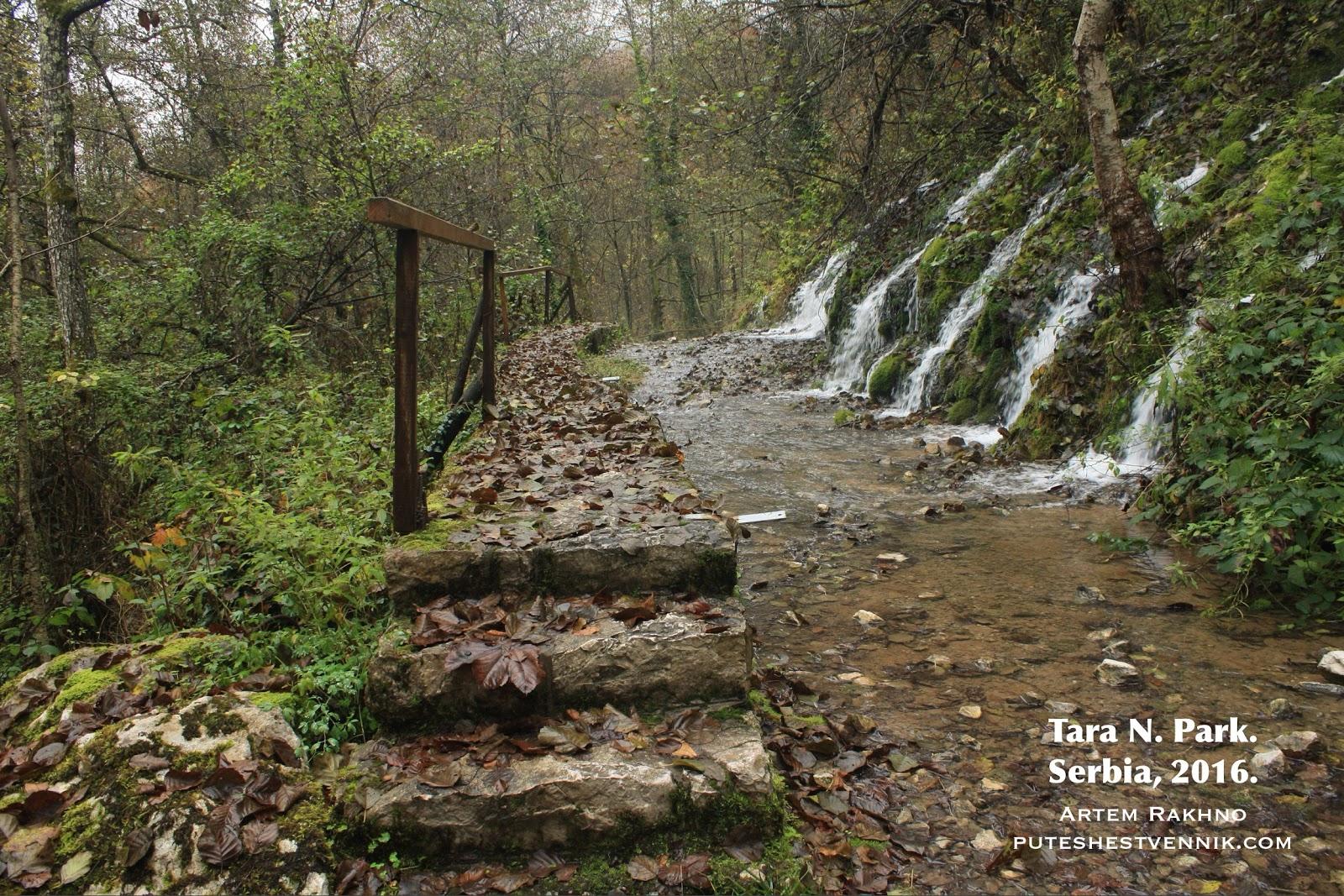 Водопад в Сербии