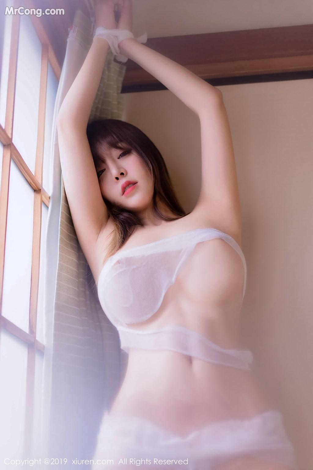 Image XIUREN-No.1308-Wang-Yu-Chun-MrCong.com-001 in post XIUREN No.1308: Người mẫu Wang Yu Chun (王雨纯) (49 ảnh)