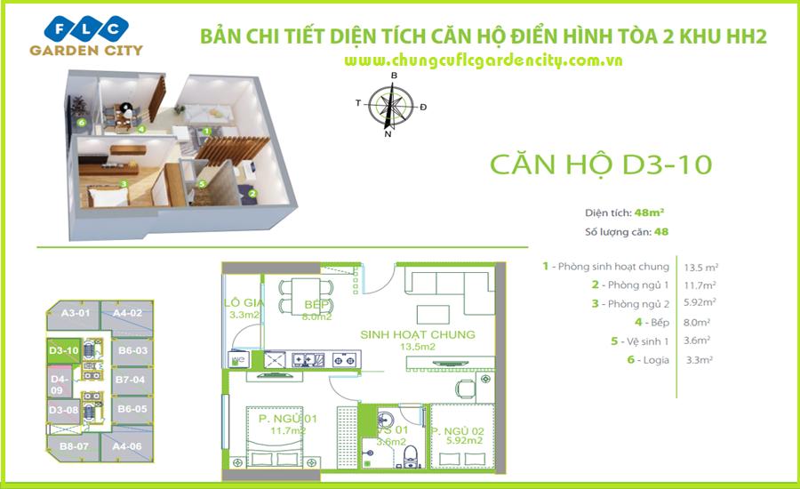 thiet ke can ho D3 chung cu flc garden city