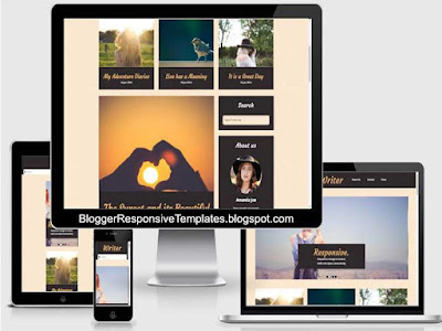 writer responsive photo gallery blogger templates