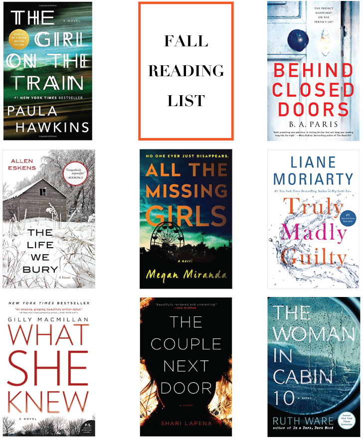 Fall Reading List {8 Books To Read!} // A Style Caddy