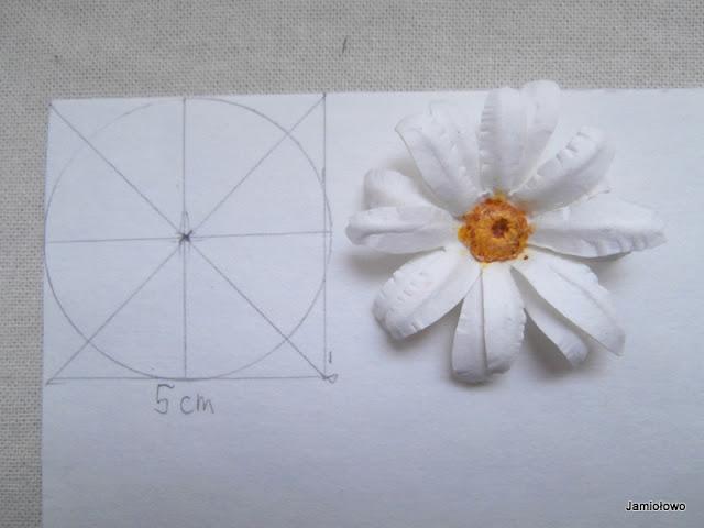 rysujemy szablon kwiatka