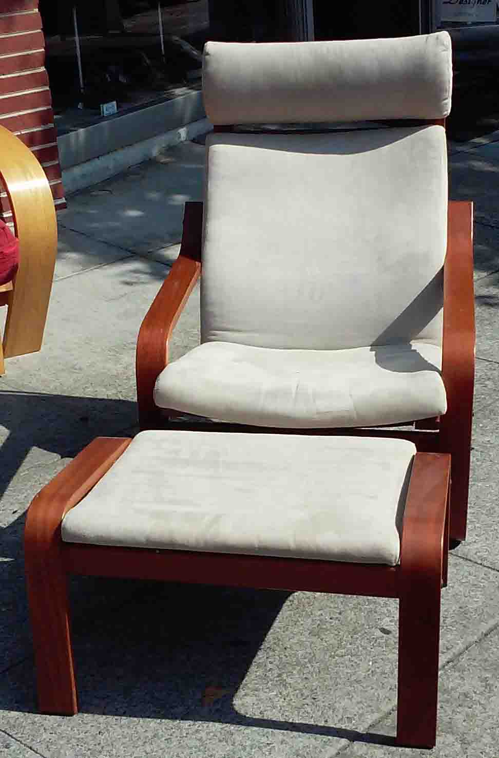 rocker chair sg kitchenette table and chairs uhuru furniture & collectibles: sold poang with ottoman - $70
