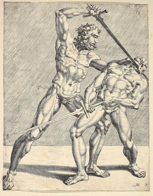 Maarten van Heemskerck: Due schermidori