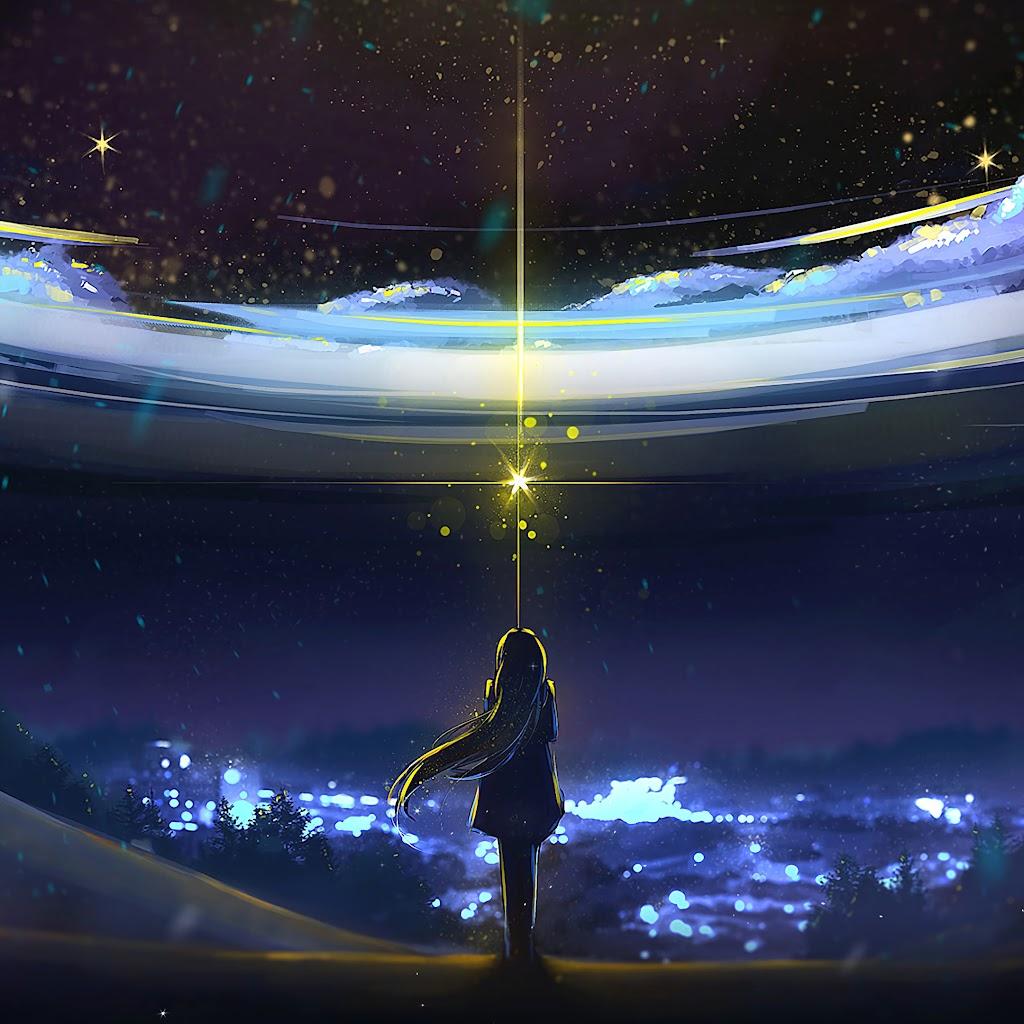 Anime, Night, Sky, Scenery, 4K, #167 Wallpaper