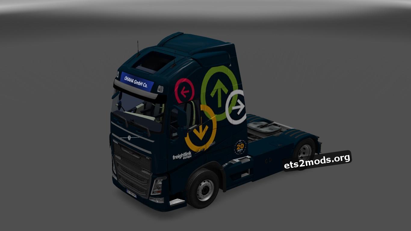 Volvo 2013 Freightlink Logistics Skin