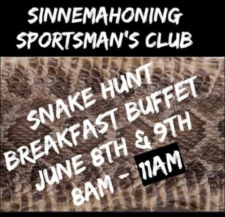 6-8/9 Snake Hunt, Breakfast Buffet, Sinnemahoning