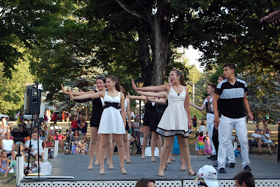 Electric Youth performing at the 2016 Franklin Cultural Festival