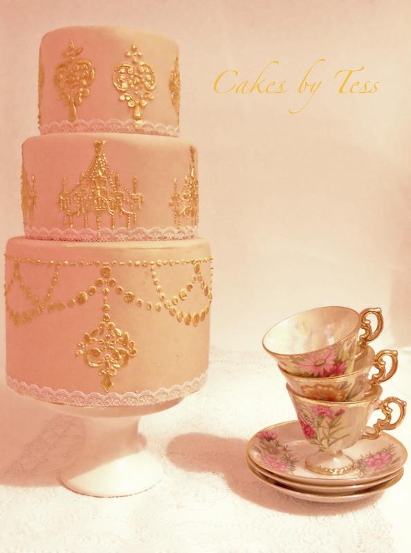 goud cake verf