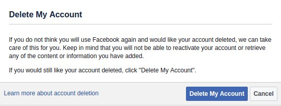 how can i delete my facebook account permanently