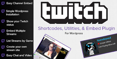 Download Twitch TV Shortcodes & Embed Tools For WordPress Plugin