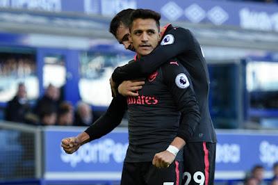 Highlight Everton 2-5 Arsenal, 22 Oktober 2017