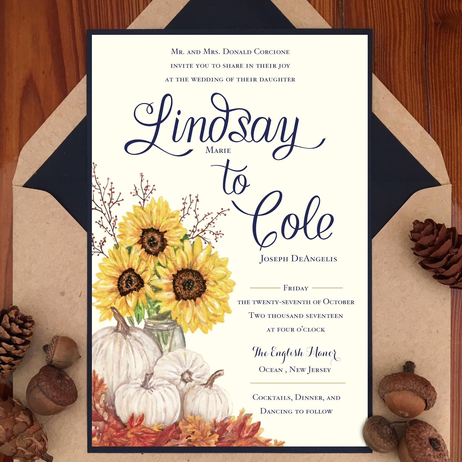 Invitations, Ink, Social Design Studio: Autumn Florals and White ...