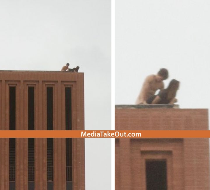 Sex on top of building