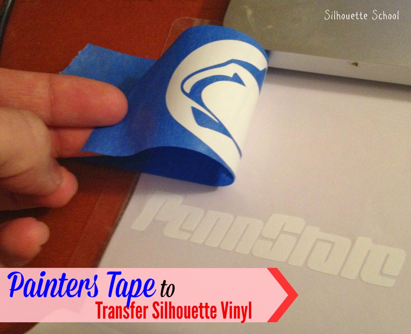 Transfer tape, substitute, painter's tape, Silhouette tutorial