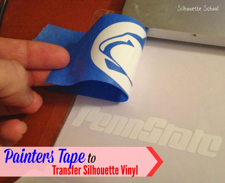 Transfer tape, substitute, painter's tape, Silhouette tutorial