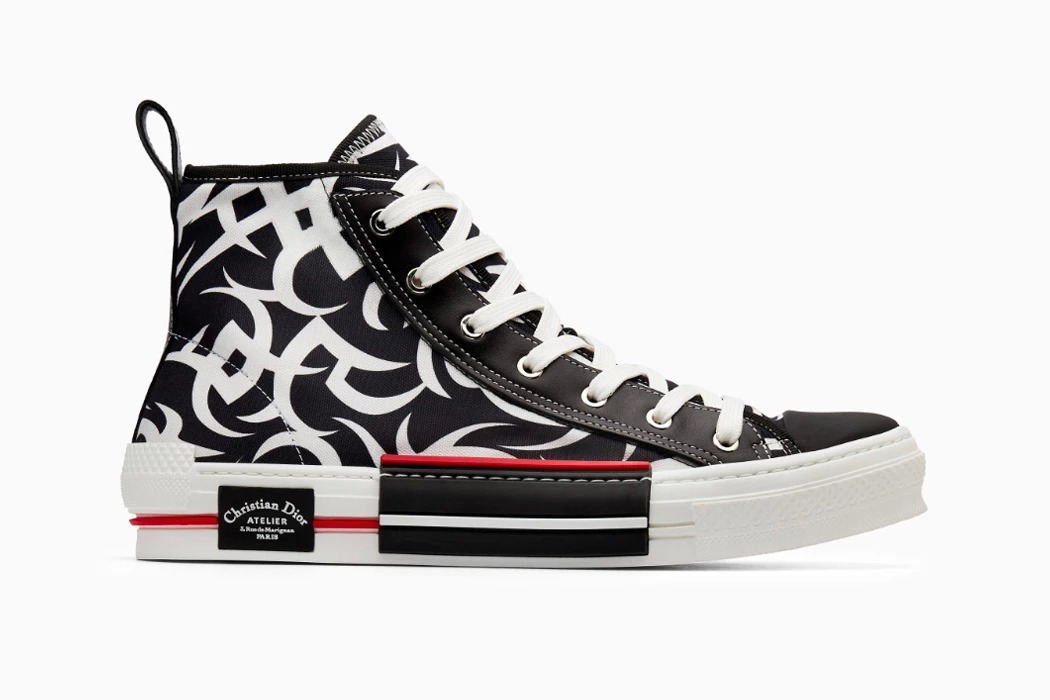 "best loved 02c33 d323a ... and ""B23"" footwear options sport a high contrast look centered around a  distinct repeating tribal motif. Offering its take on the sock sneaker  trend, ..."