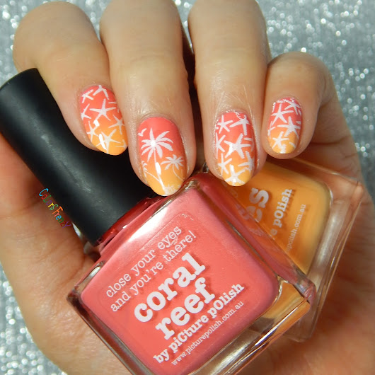 Summer Gradient & Stamping with Picture Polish and Born Pretty BP-L017