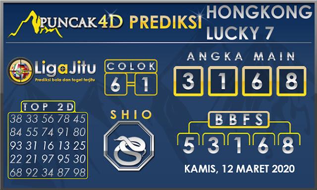 PREDIKSI TOGEL HONGKONG LUCKY7 PUNCAK4D 12 MARET 2020
