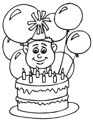 Gambar Mewarnai Kue Ulang Tahun - 2