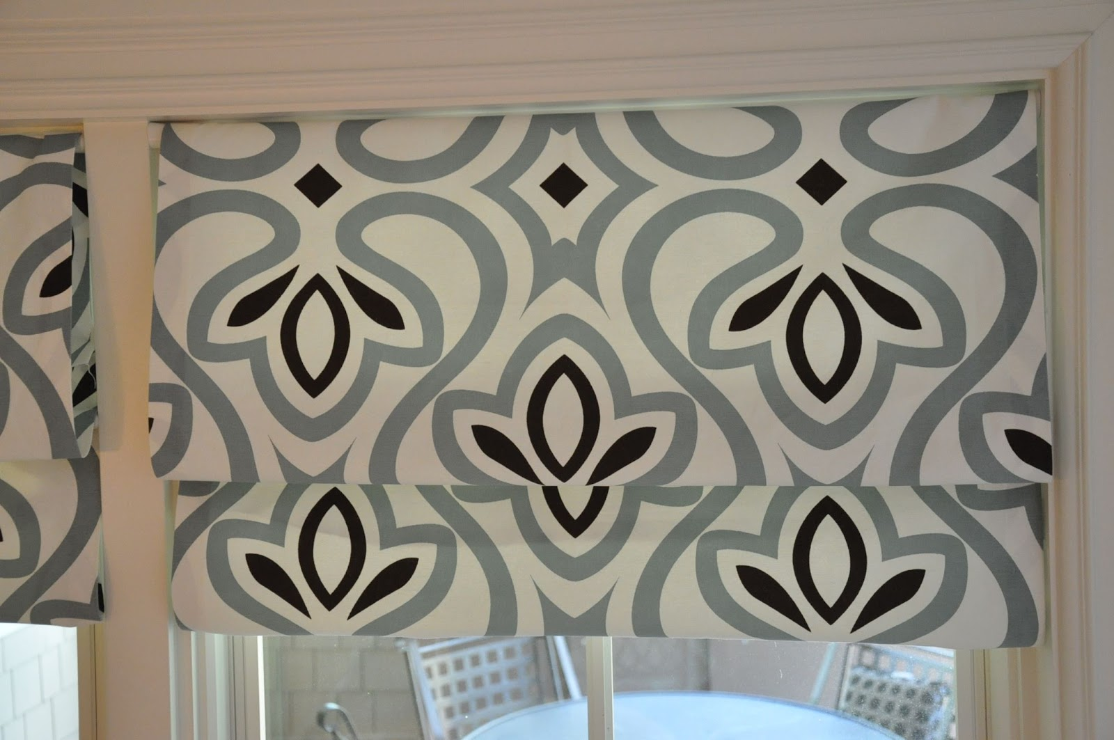 patterned bed ideas beyond blinds target with at images curtains bath white and chevron kitchen