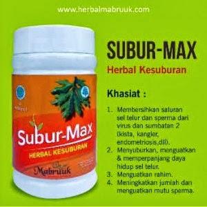 Jual Herbal penyubur Kandungan Kapsul SUBUR MAX buatan Mabruuk