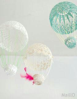 Hot air baloon dari kain renda