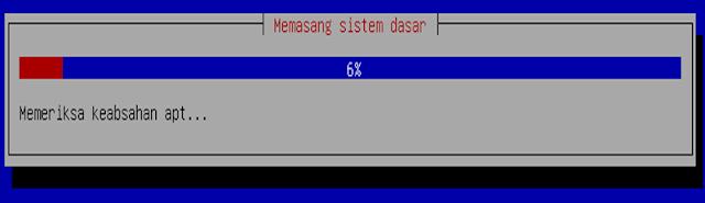 Instalasi Debian - Tunggu hingga 100%