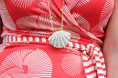 Kate Spade Shore Thing Seashell Pendant Necklace