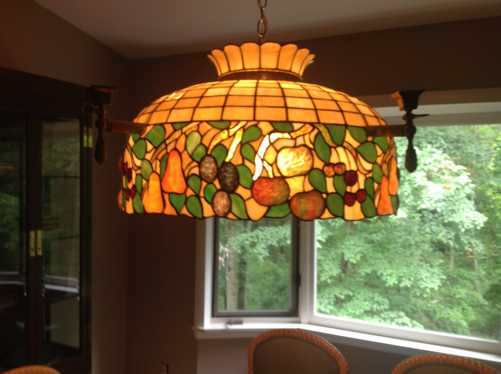 The Maybe Tiffany Chandelier In Our Cur Dining Room Personal Collection