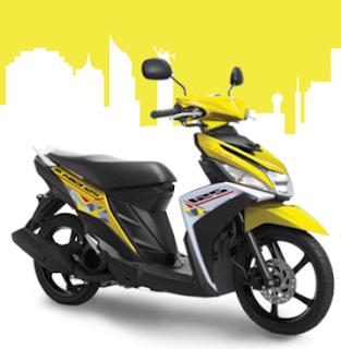 Yamaha Mio M3 Kuning terbaru 2016